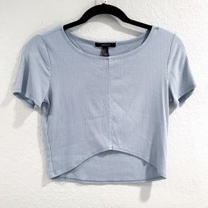 Forever 21 / Baby Blue Crop Top